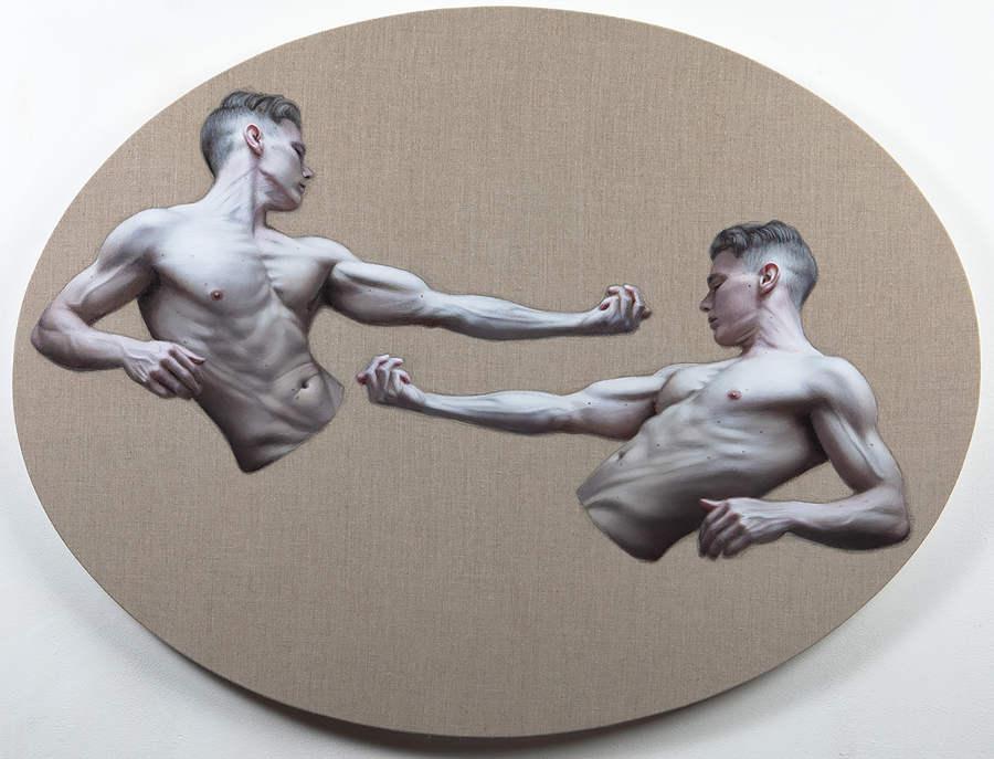 Ben Ashton Parody surreal nude figurative oil painting