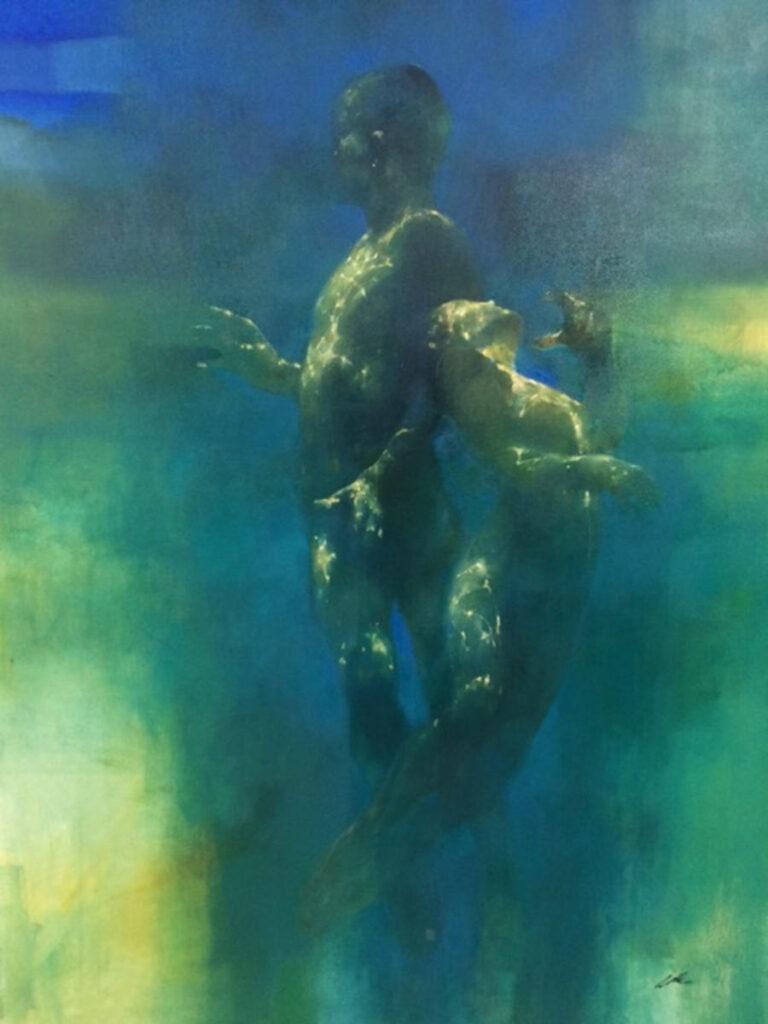 Bill Bates surreal contemporary art painting at Arcadia contemporary