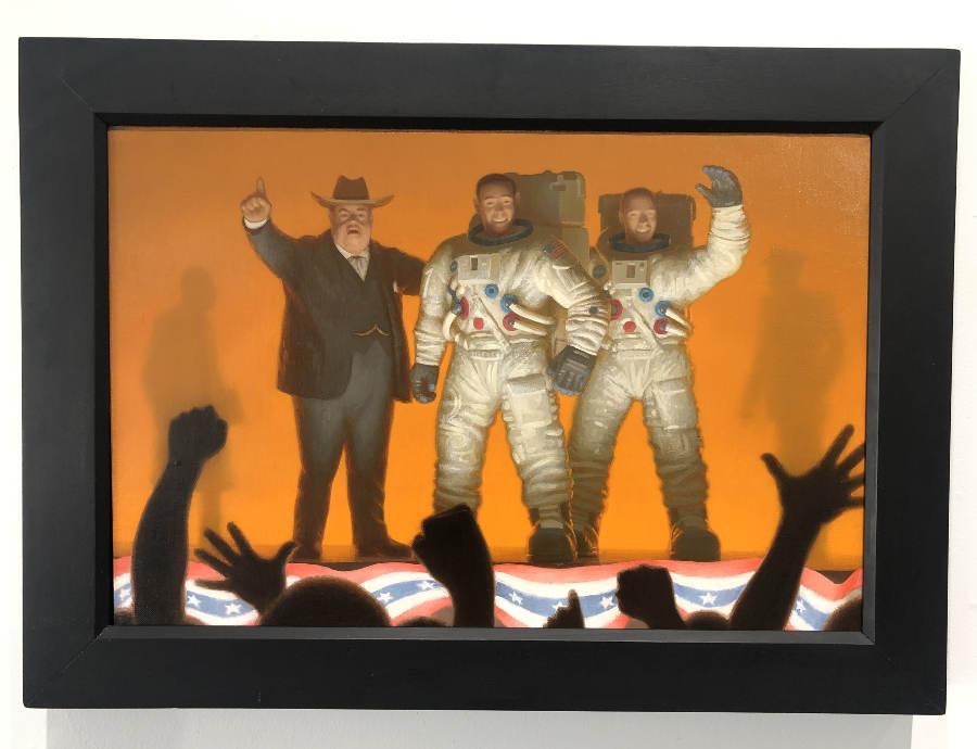 Conor Walton astronaut oil painting