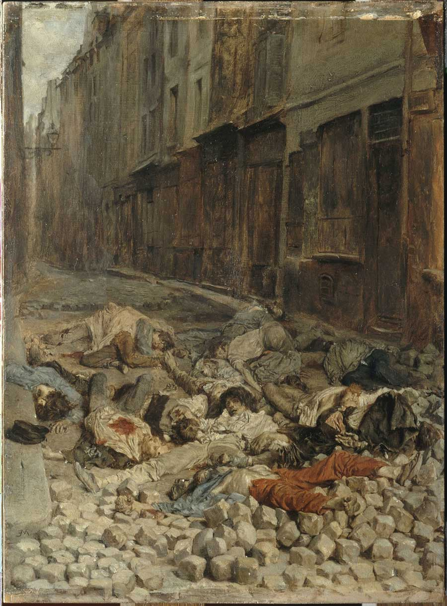 Ernest Meissonier the barricade, rue de la mortellerie - painting