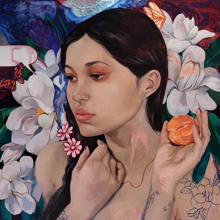 Helice Wen flower nature portrait painting
