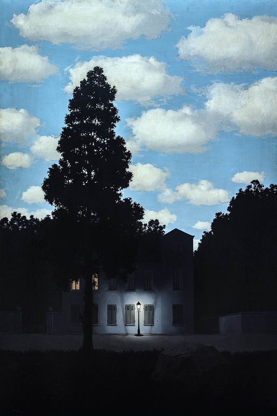 René Magritte the empire of light  painting