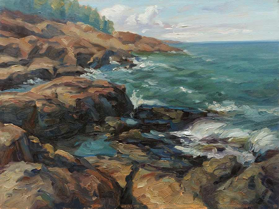 Primary Hughes landscape painting Modern Eden Gallery