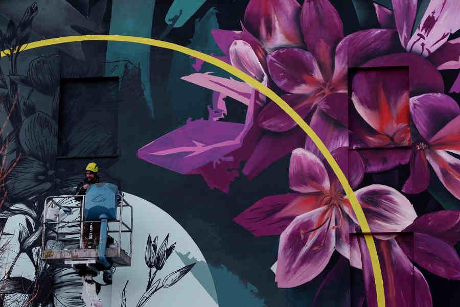 Fabio Petani street art with Yourban2030 & Dorothy Circus Gallery
