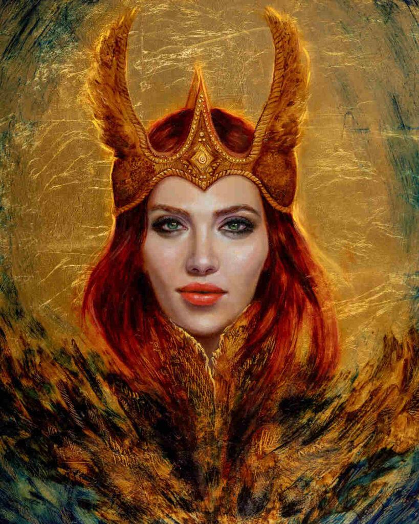 Foksynes Valkyrie gold painting