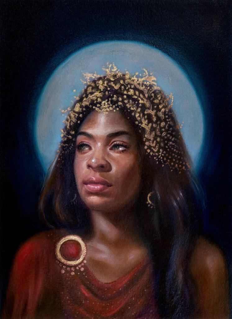Foksynes Selene Divine painting