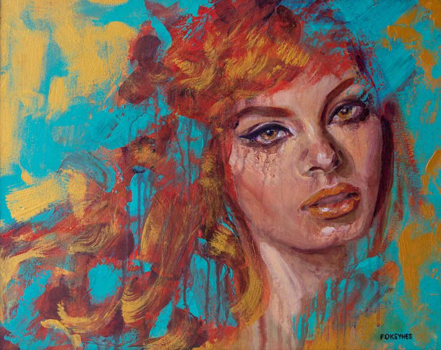Foksynes impressionist portrait
