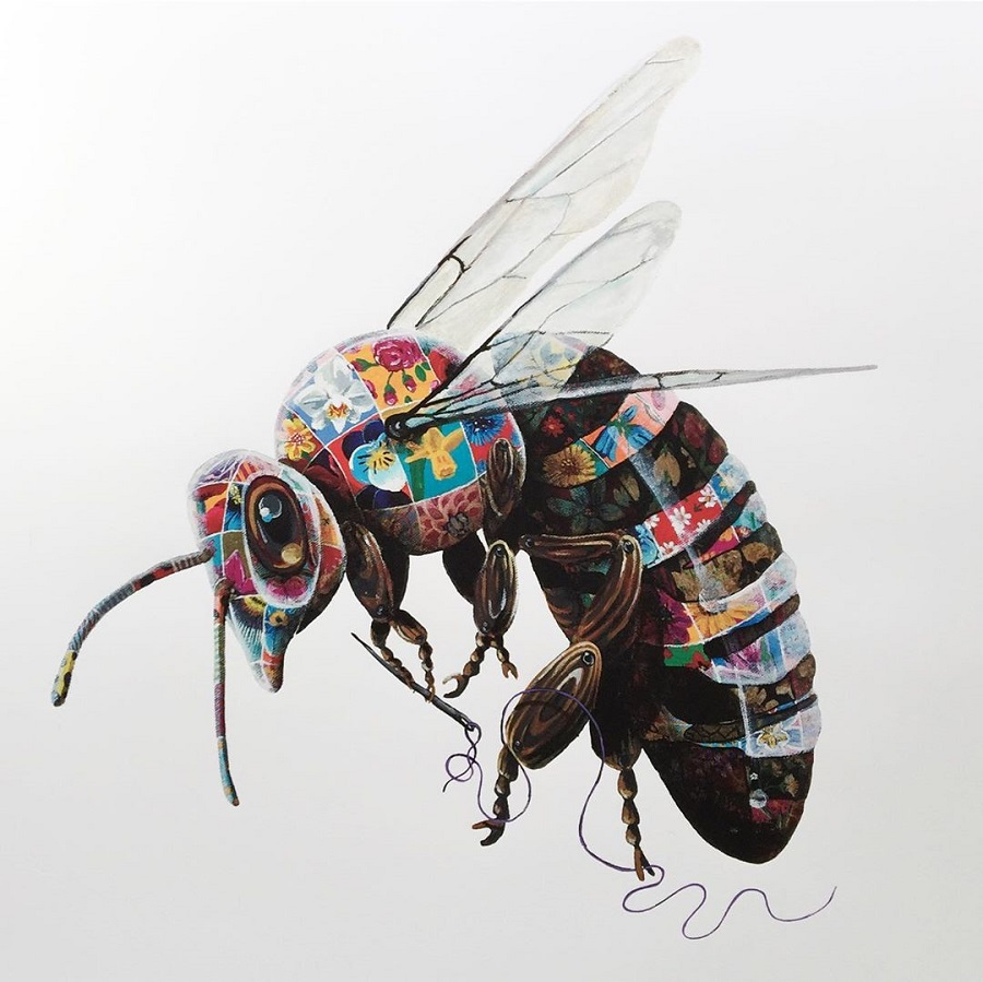 Louis Masai no strings attached bee painting