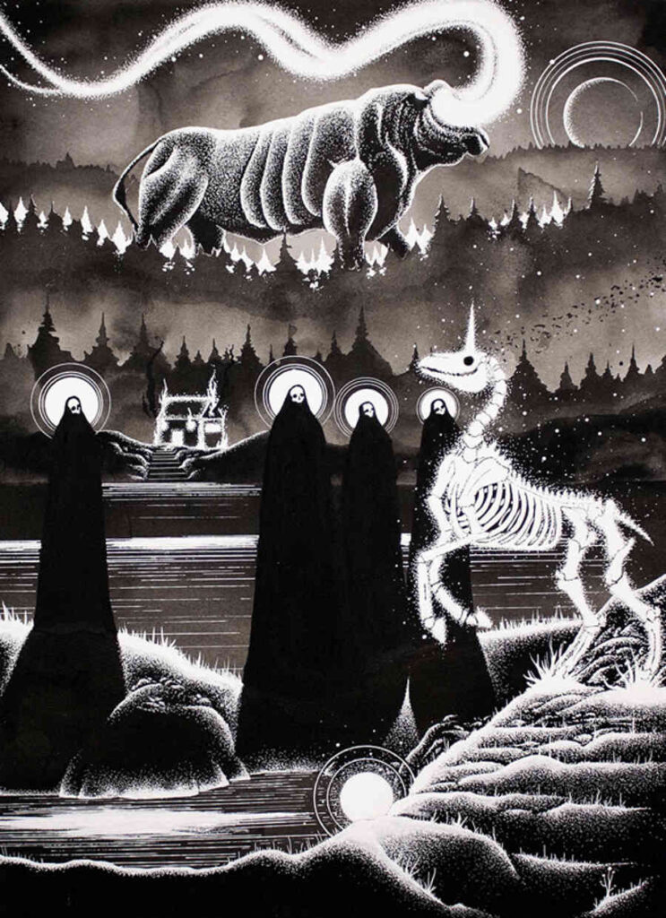 McMonster All Hallows eve ink painting Copro Gallery