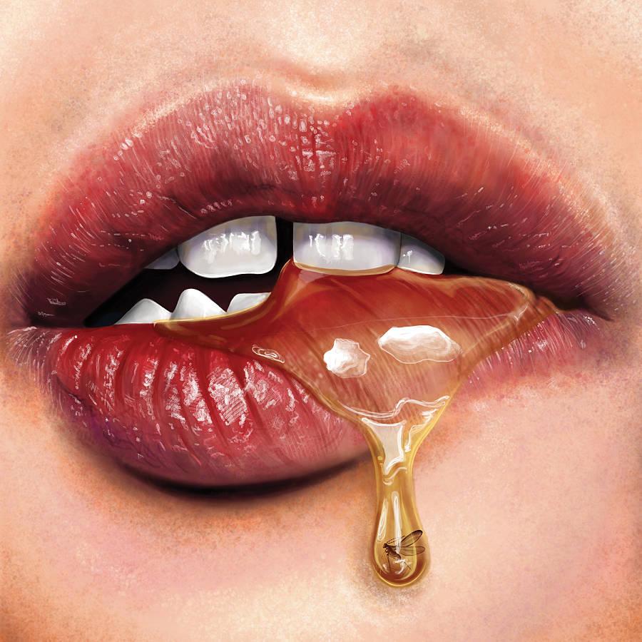 Teodora Jelenic digital honey mouth painting