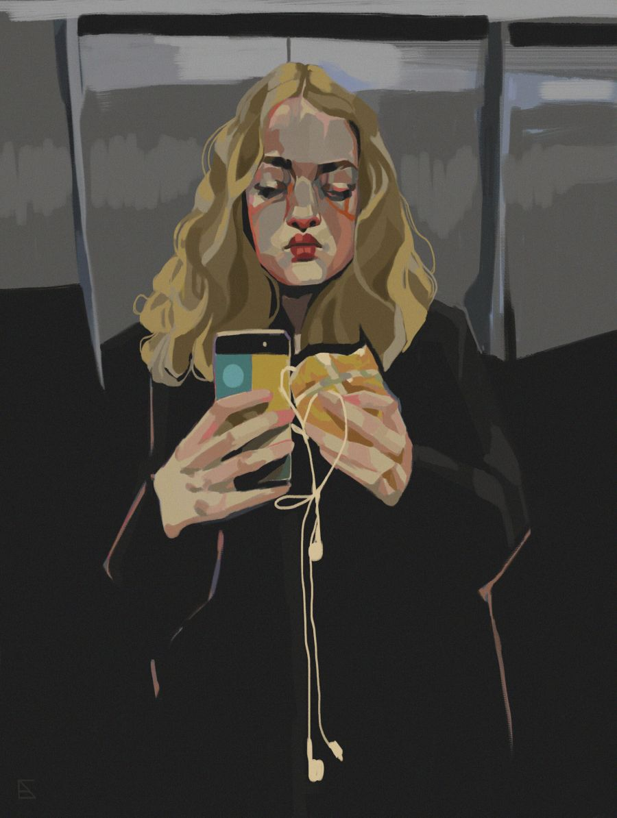 Alejandra Caballero portrait of woman taking a selfie
