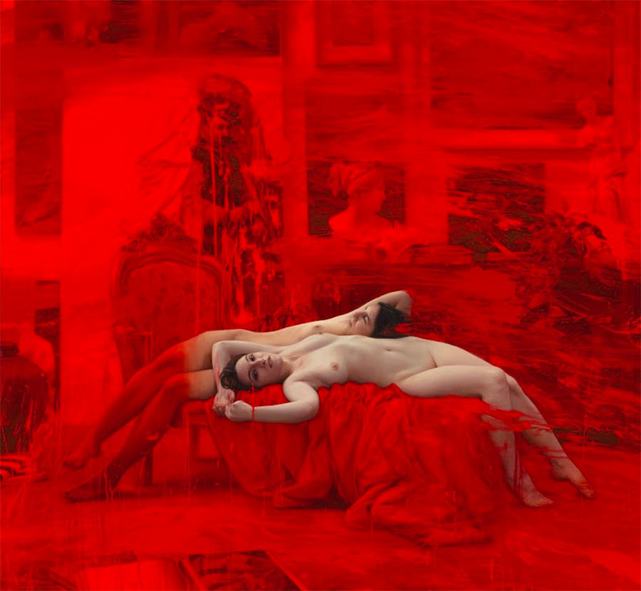 Jordi diaz alma-two reclining women-red