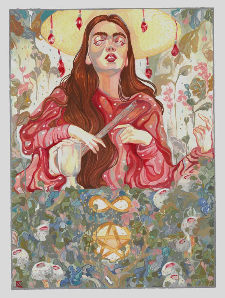 Alejandra Ccaballero The Magician painting