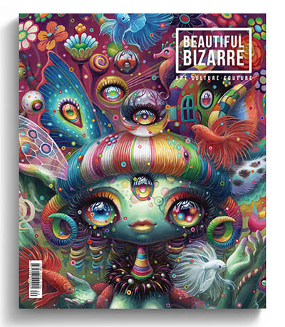 Beautiful Bizarre art magazine - issue 30 - Yoko d'Holbachie pop surrealism painting