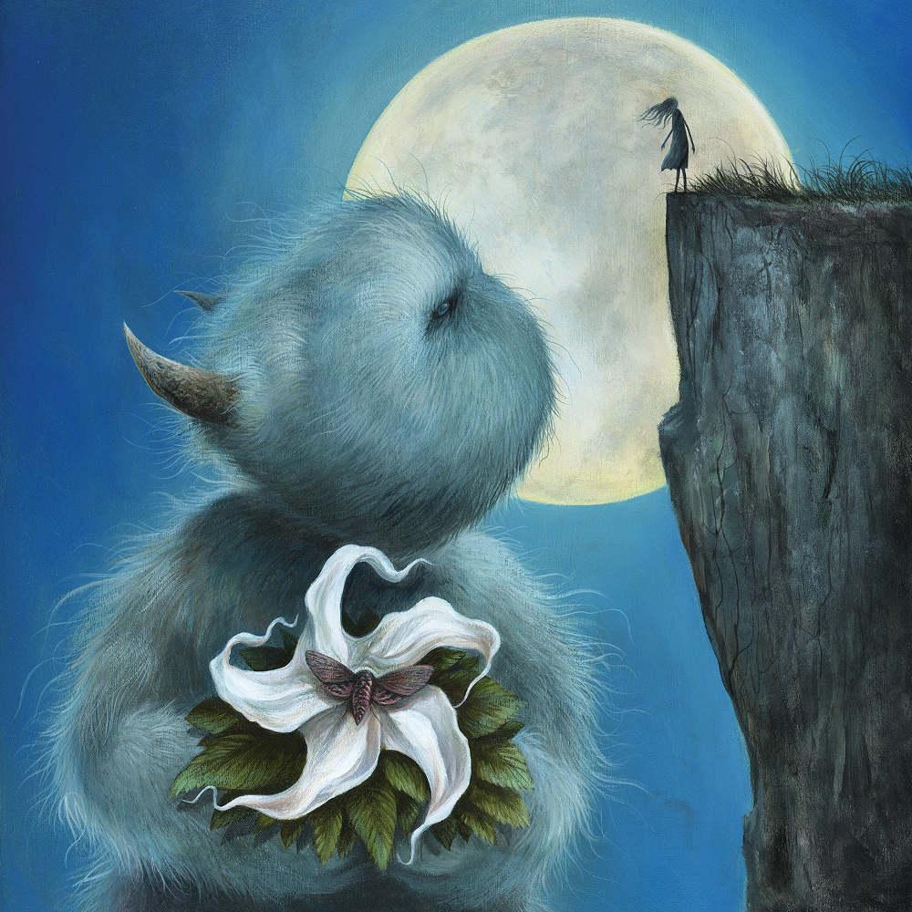 Dan May Moon painting