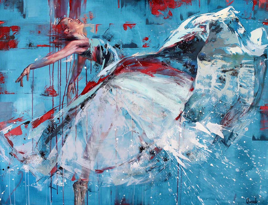 "Daniella Queirolo ""Rebirth"", Oil and acrylic on canvas, 95 x 125cm"