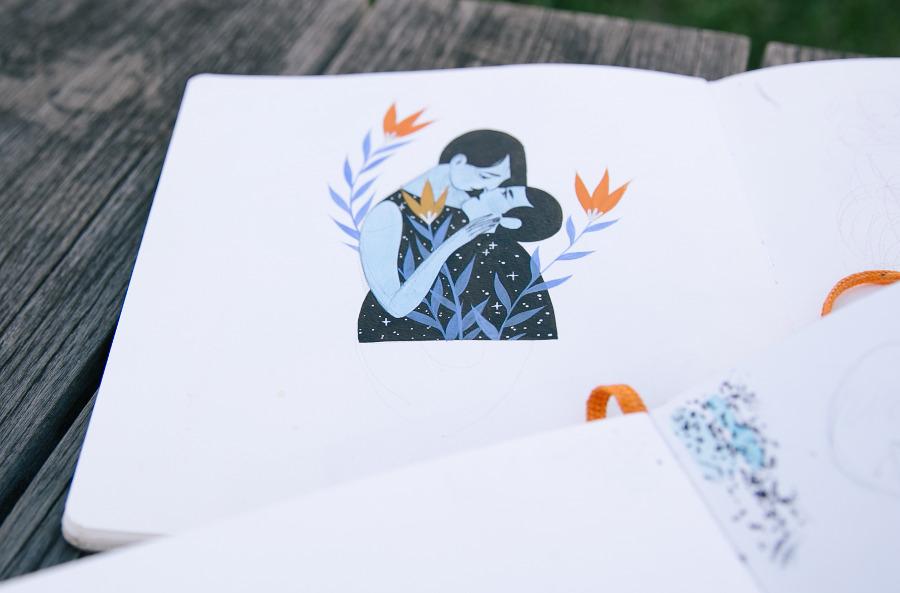 Rachel Suggs lovers sketch
