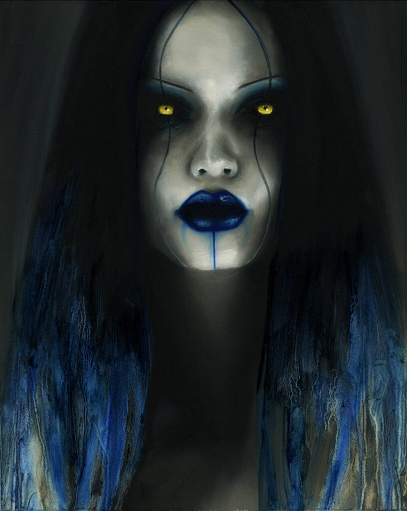 Menton3 blue hair woman Copro Gallery