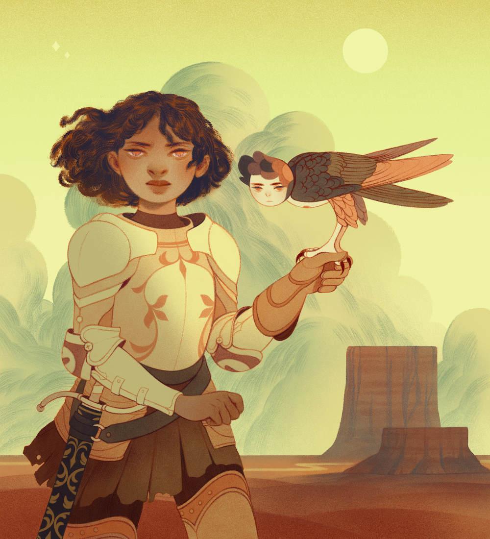 Rachel Suggs girl with bird