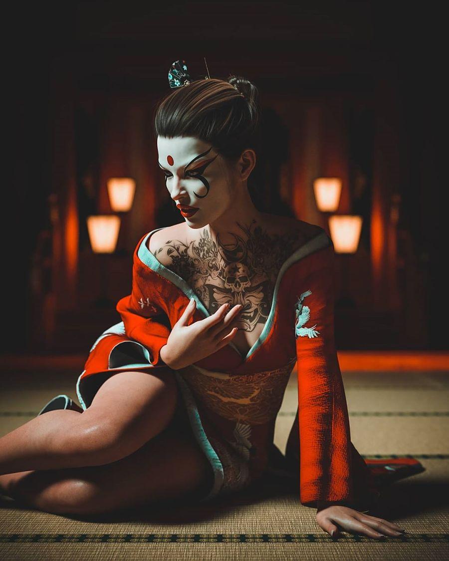 Japanese geisha dark artistry of judhakrist