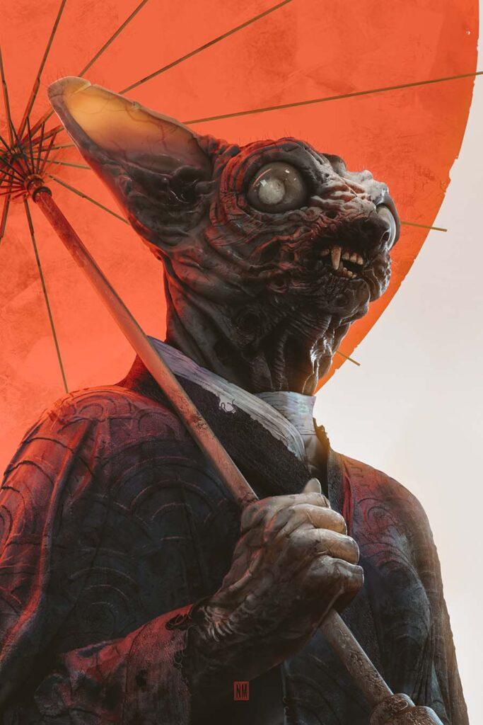 Neeraj Menon umbrella cat beautiful bizarre