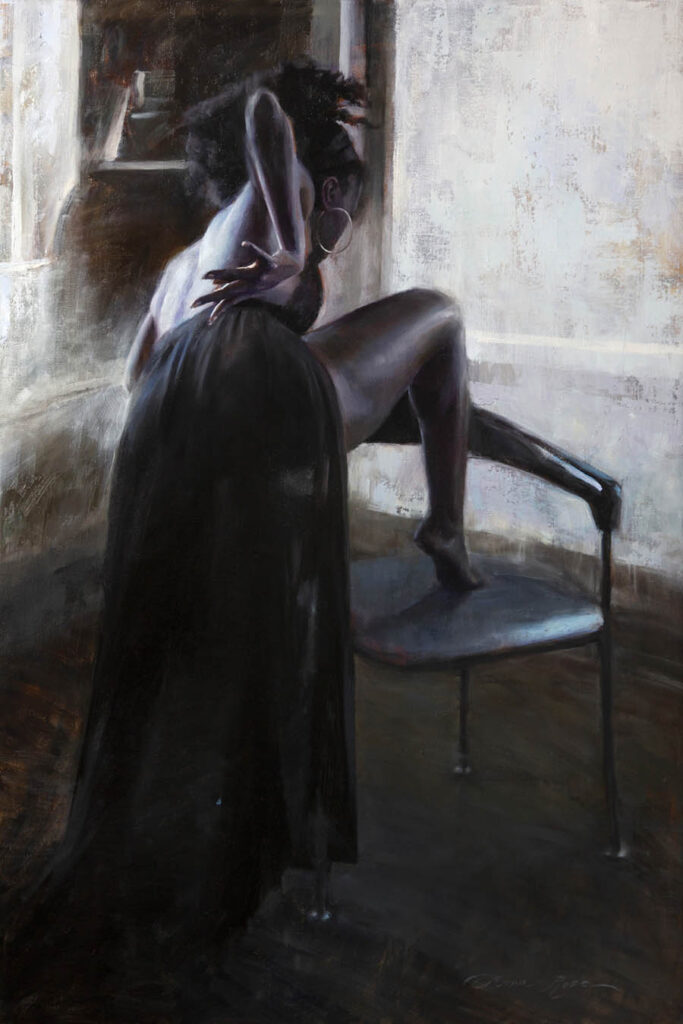 Anna Rose Bain woman on chair