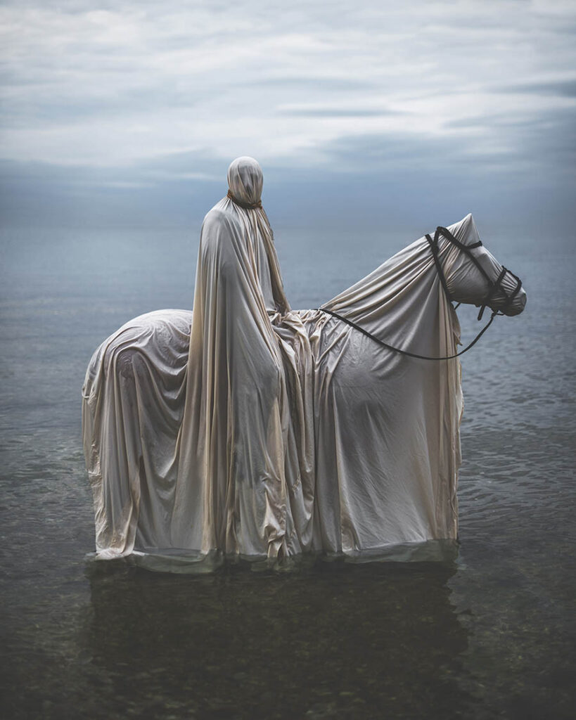 Nicolas Bruno man and horse beautiful bizarre
