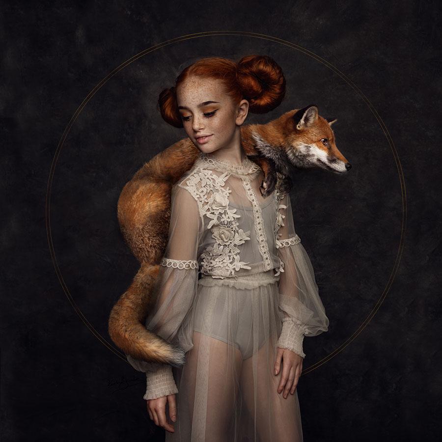 Karolina Skorek girl with fox
