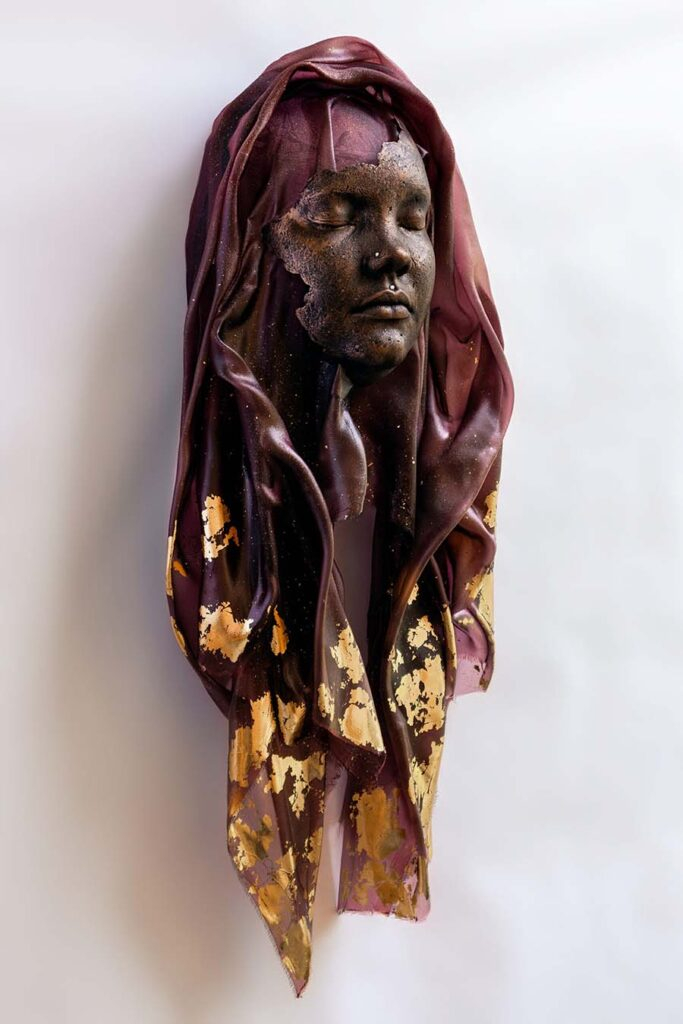 Allyson Bode veiled lady sculpture Yasha Young