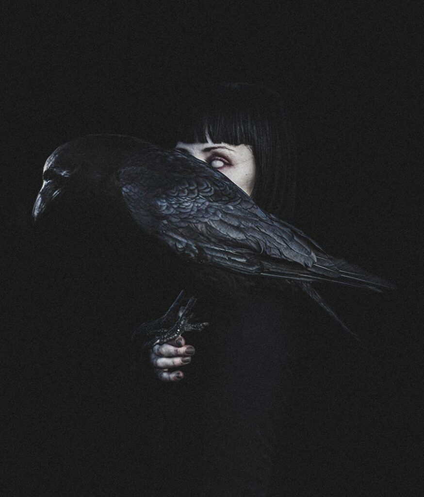 Amy Haslehurst woman and raven beautiful bizarre