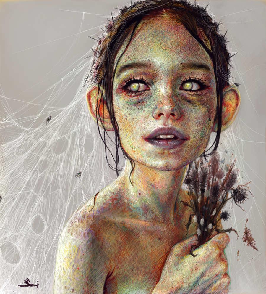 Elena Sai cobweb bride