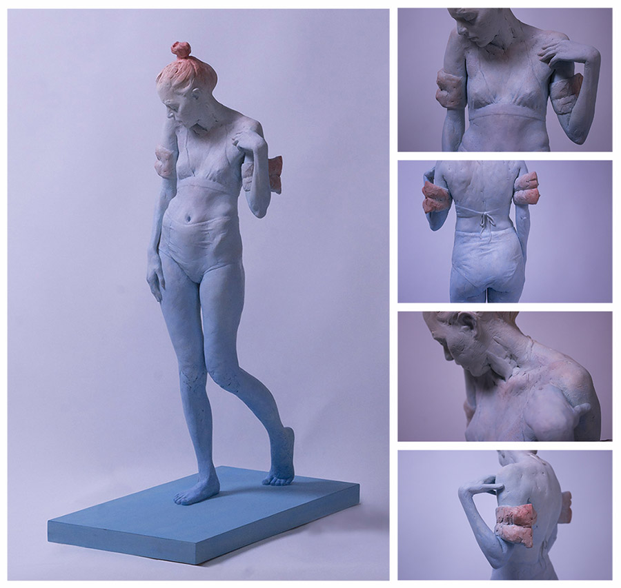 Brittany Ryan swimmer sculpture Yasha Young