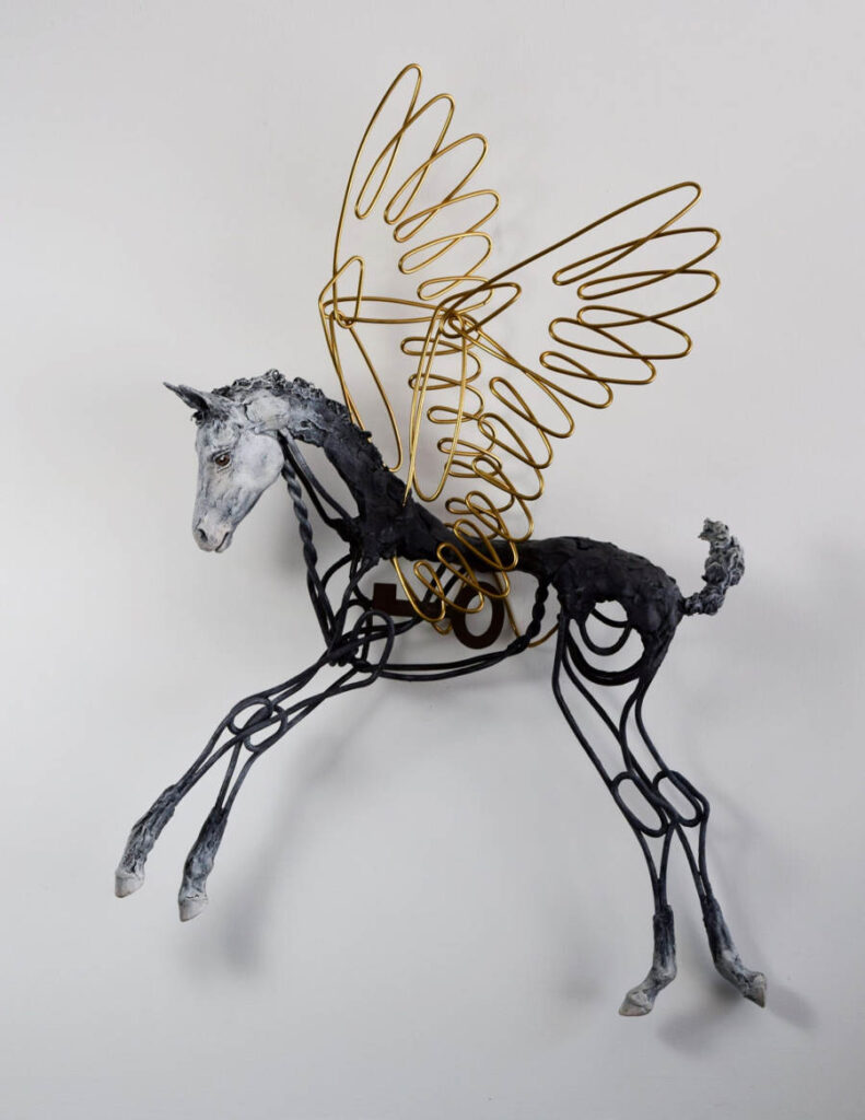 Susie Benes horse sculpture
