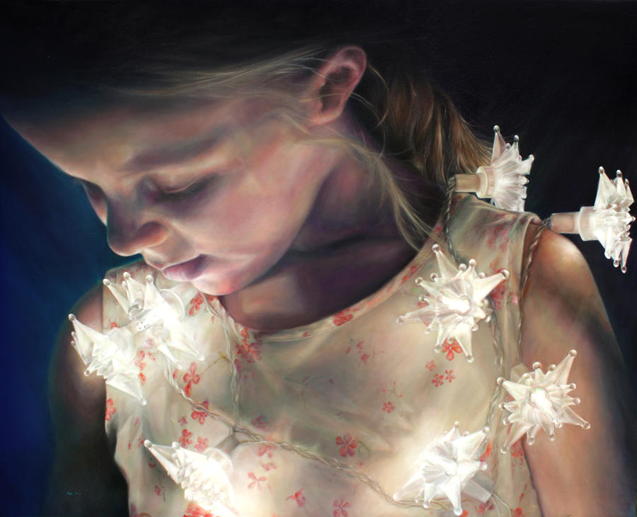 Julian Clavijo fairy lights portrait Beautiful Bizarre