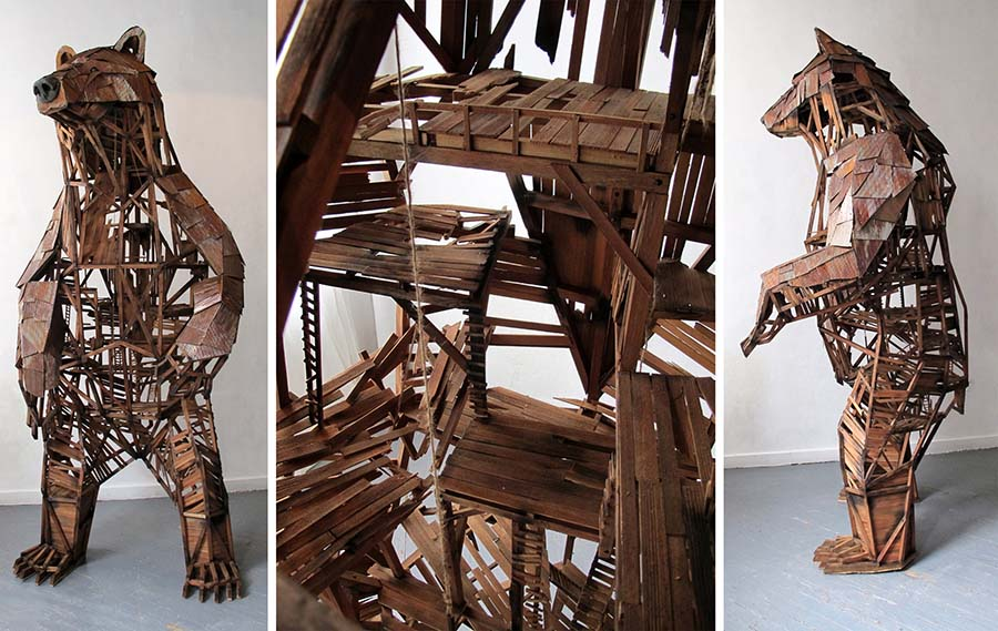 Emily White boomtown bear sculpture