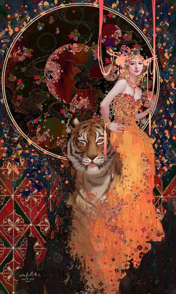 Casimir tiger woman