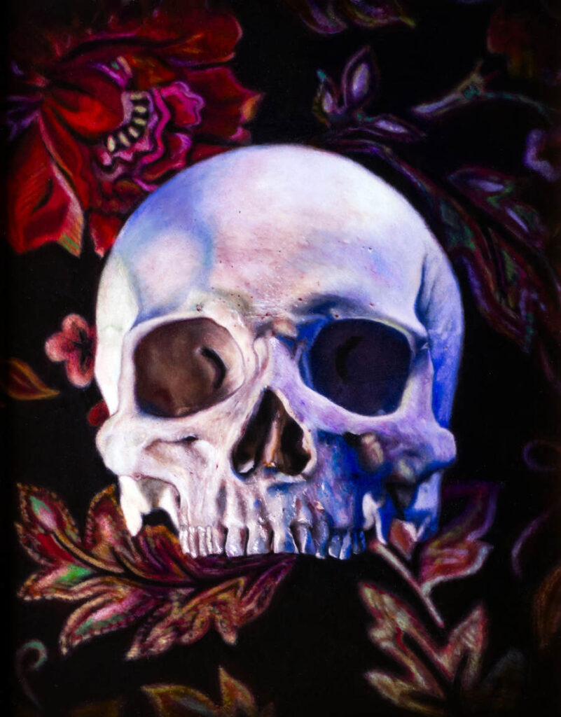 Matthew Cook skull painting
