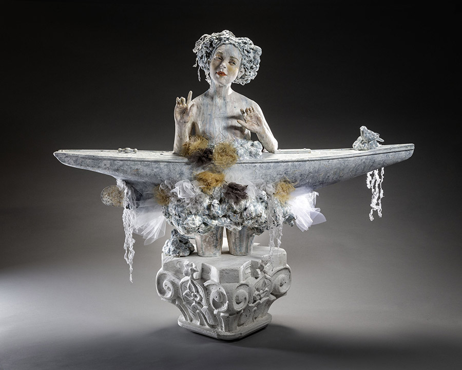 Kristen Stingle winter female sculpture