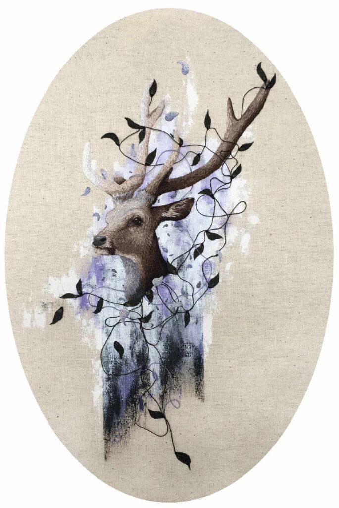 Ell Violet embroidery reindeer