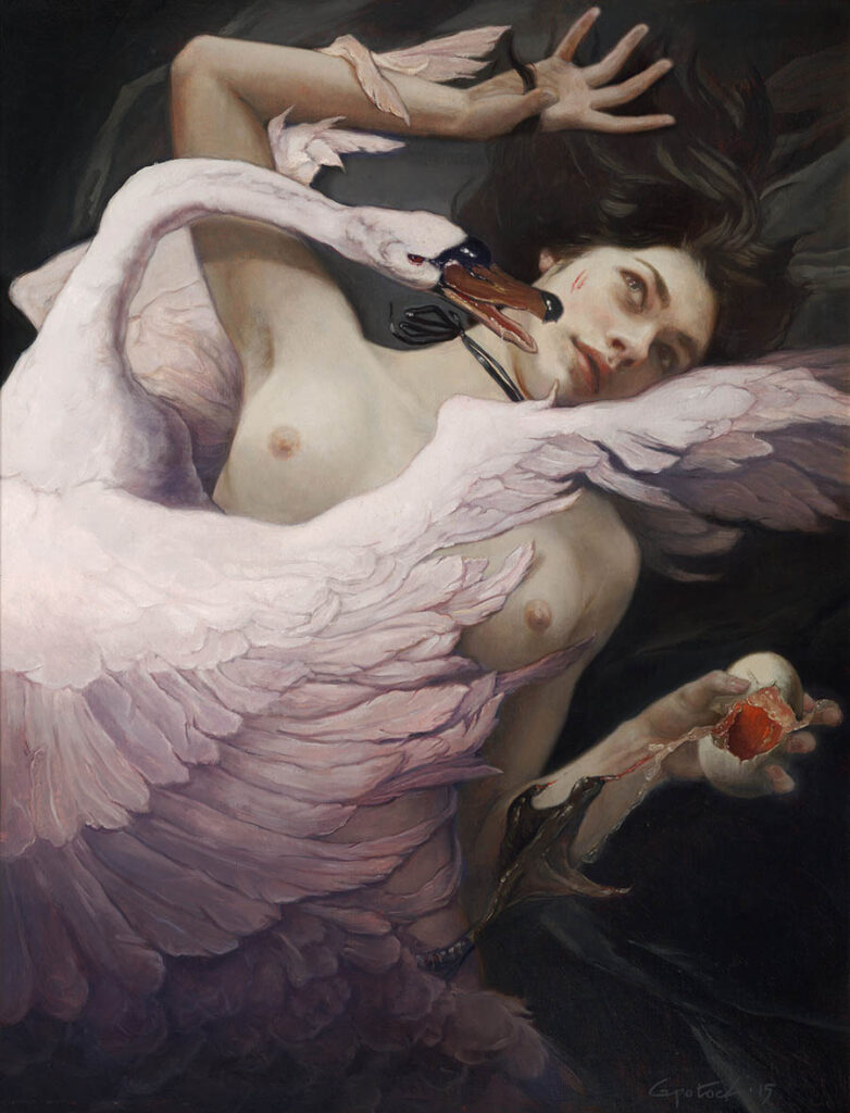 Gail Potocki woman and swan