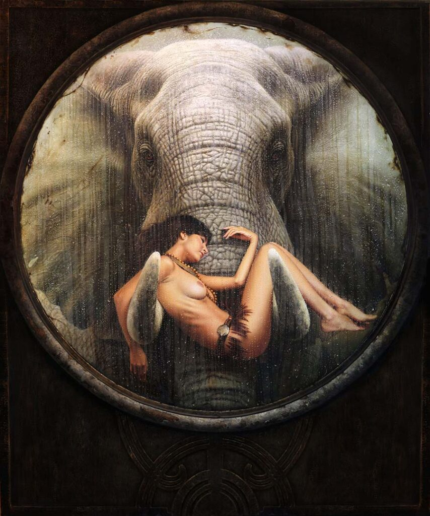 Christiane Vleugels woman and elephant