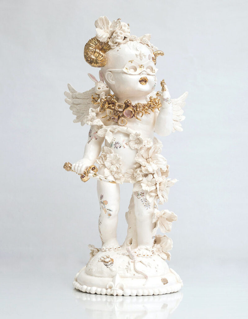 Susannah Montague ceramic angel gold Yasha Young