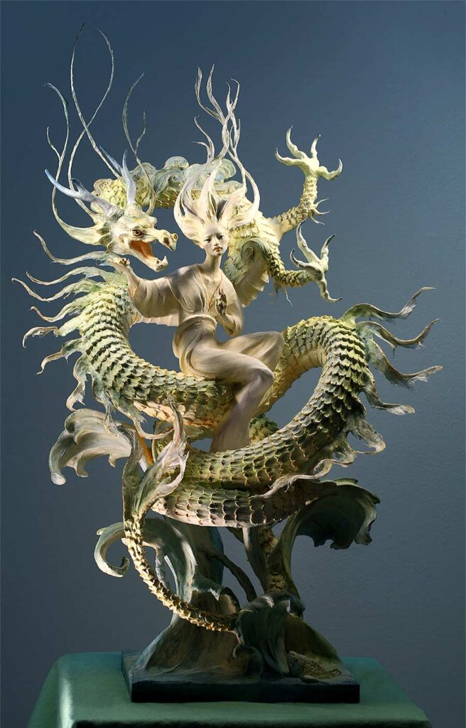 Forest Rogers dragon sculpture Yasha Young