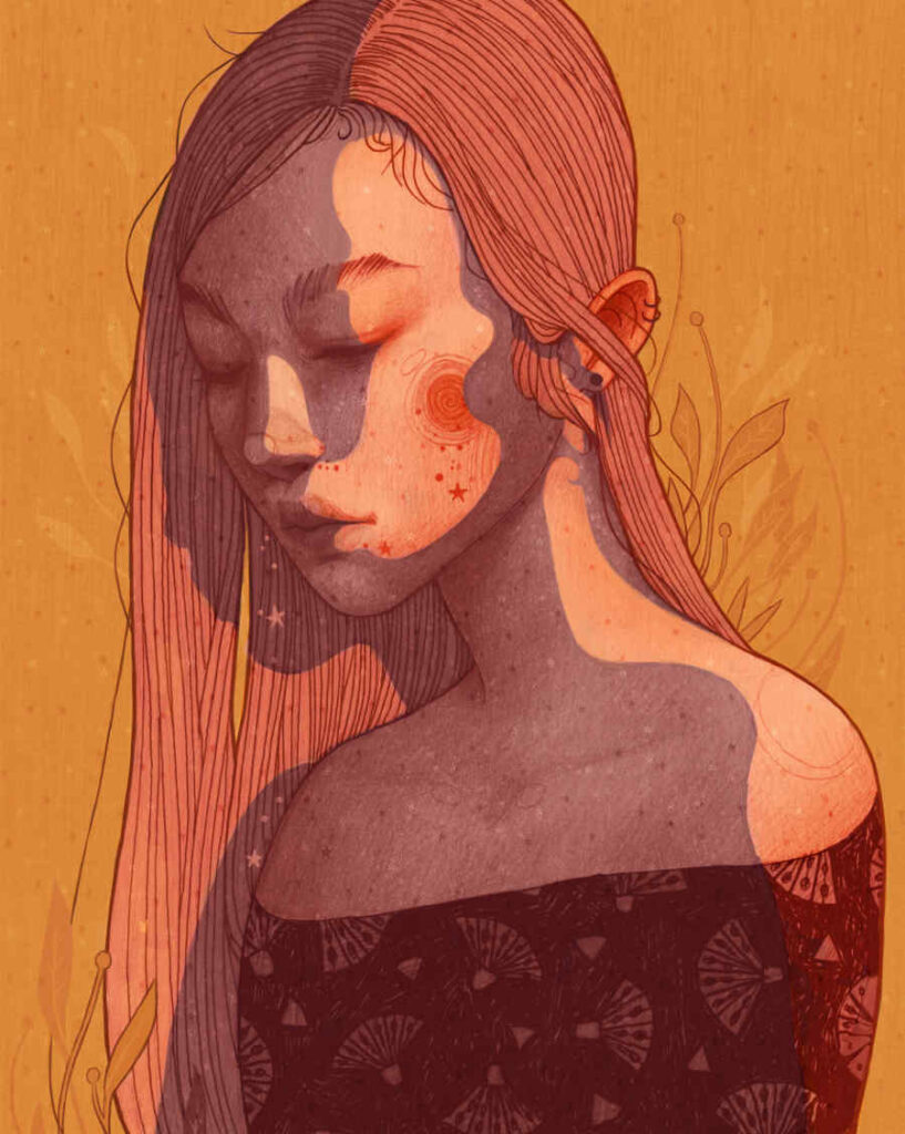 Chantal Horeis orange female portrait