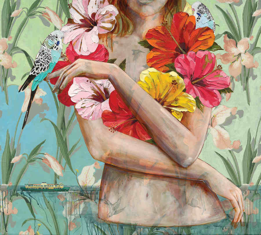 Jessica Watts tropical flowers
