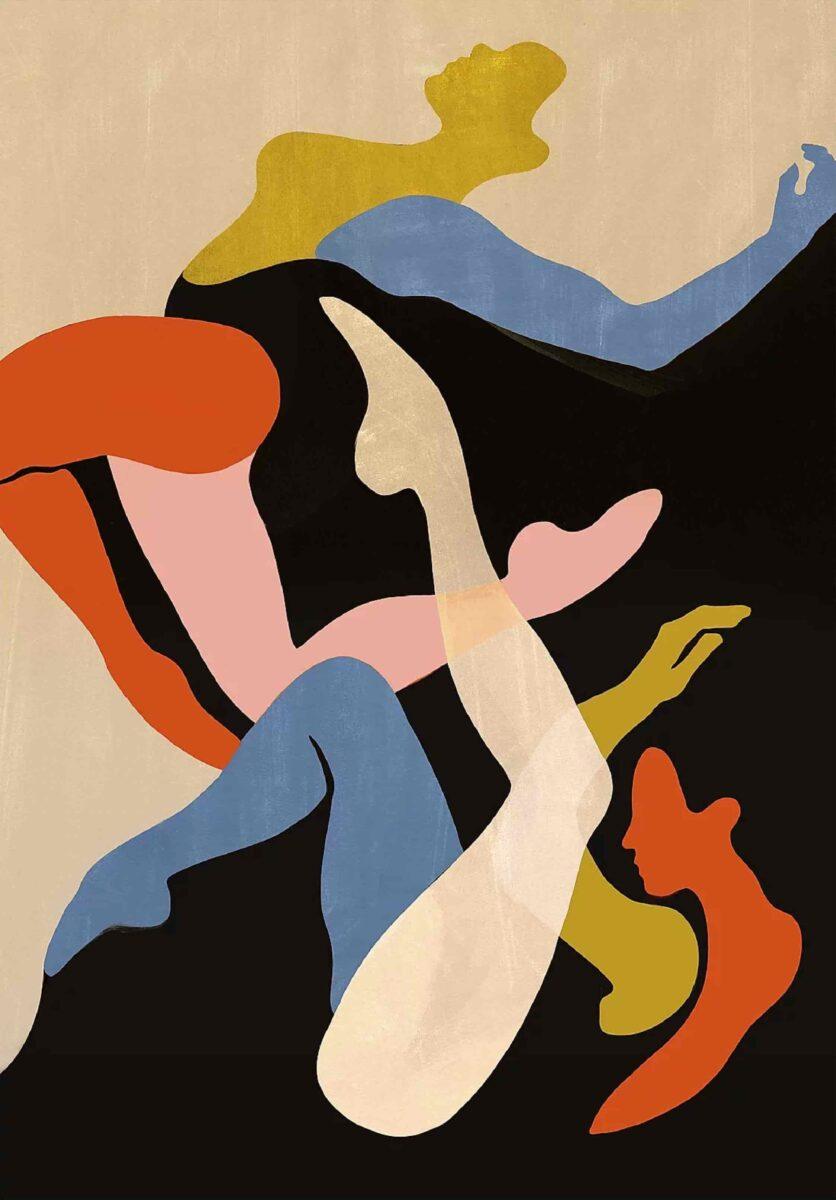 Laura Peretti dancing women painting