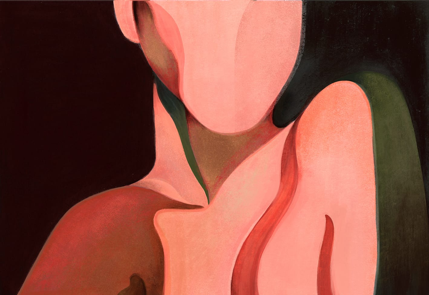 Laura Peretti painting of shoulders