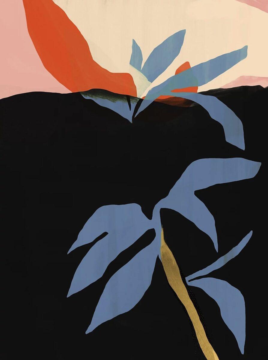 Laura Peretti Leaves Painting