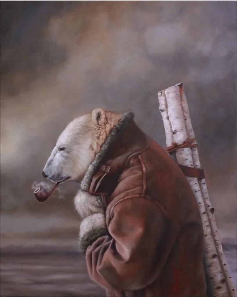 Richard Ahnert polar bear smoking