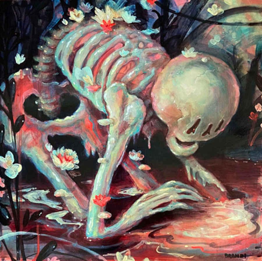 Brandi Milne skeleton reflection